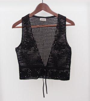 Schwarze Crochet-Weste