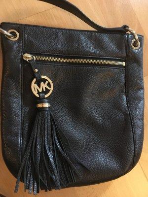 Schwarze Crossbody Tasche aus Leder