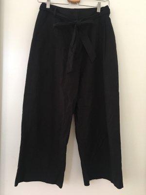 Schwarze Culotte aus Leinen