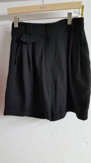 Schwarze damen Bermuda Hose
