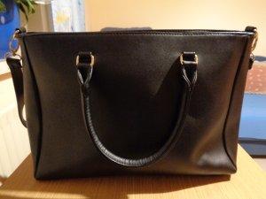 schwarze Damen Handtasche, Kunstleder, Tasche, Schulterriemen