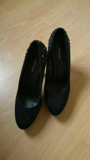 Schwarze Damen High Heels mit nieten