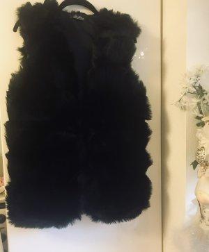 Gilet en fourrure noir