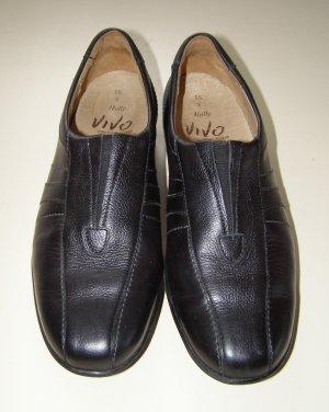 Schwarze Damen Leder Schuhe NEUWERTIG