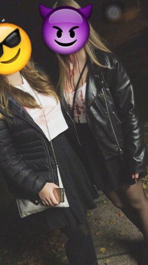 Schwarze Damen Lederjacke