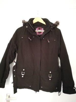 Schwarze Damen Ski Jacke