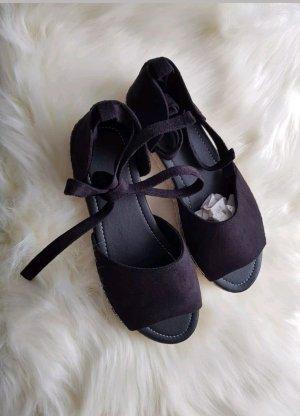 Schwarze Damenschuhe Sandalen