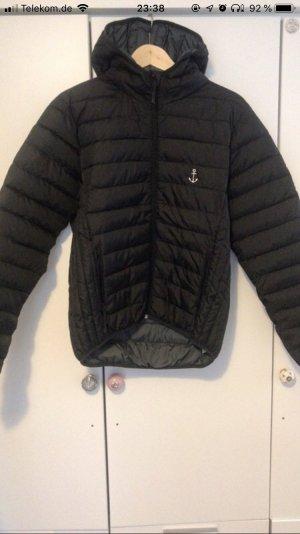 Down Jacket black-green grey