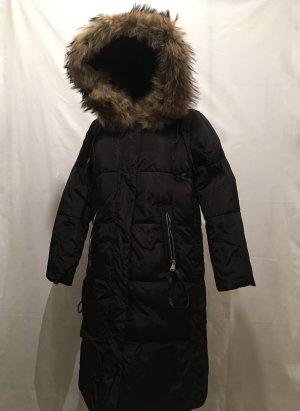 Manteau en duvet noir synthétique