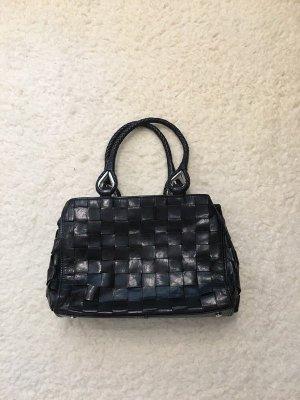 Schwarze Designer Handtasche von Pons Quintana in Flechtoptik
