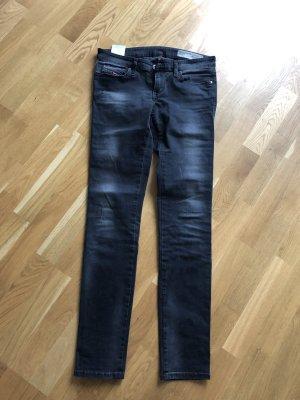 Diesel Jeans a sigaretta nero-argento