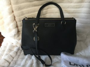 DKNY Carry Bag black-gold-colored leather