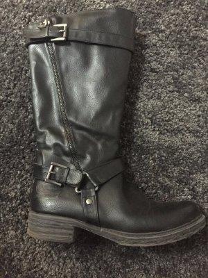 Schwarze Dockers Stiefel