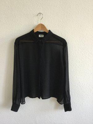 Schwarze durchsichtige Bluse von Weekday