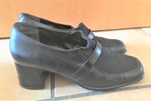 schwarze Ecco Halbschuhe mit Absatz (Hochfrontpumps) Größe 39 (UK6)