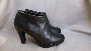Schwarze Echt Leder Ankle Boots Gr. 36 Anna Volodia