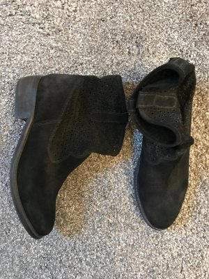 schwarze echt Wildleder Boots von H&M