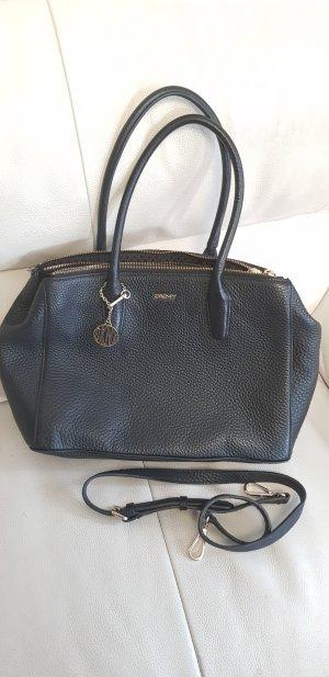 Schwarze Echtleder Handtasche Original DKNY *neu*