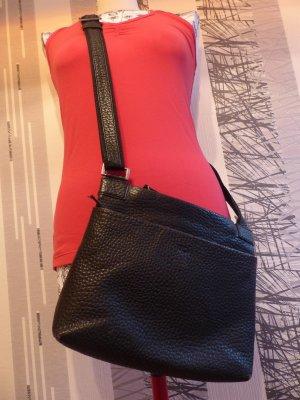 schwarze Echtleder Handtasche / Umhängetasche von Voi