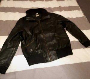 schwarze Echtleder Jacke Damen