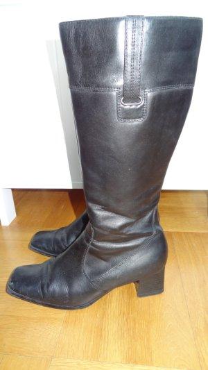 schwarze Echtleder Stiefel von Ariane