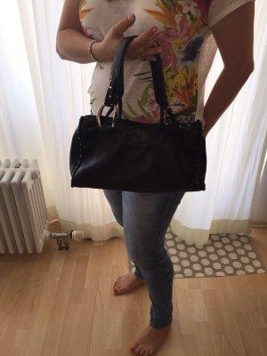 Schwarze Echtleder Tasche