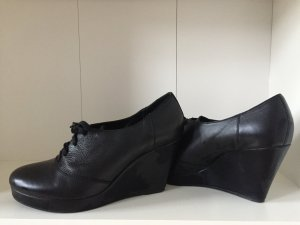 Schwarze, echtleder vagabond Schuhe