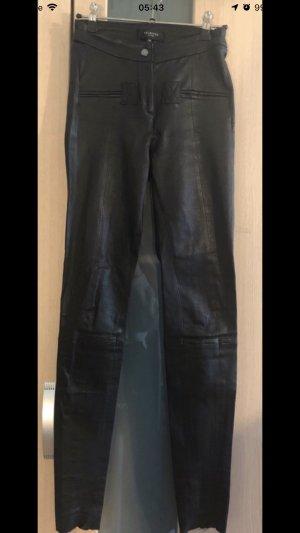 Selected Pantalón de cuero negro