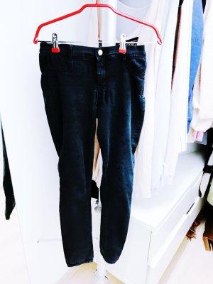 Schwarze elastische Jeans von Zara