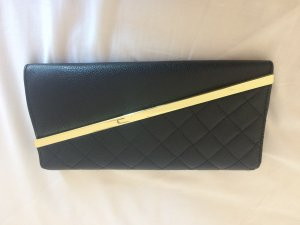 schwarze elegante clutch