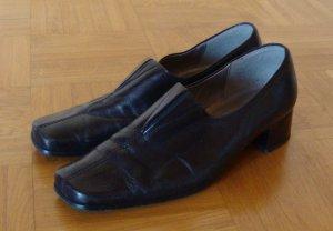 schwarze elegante Loafer Echtleder GABOR 38