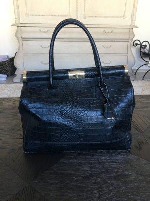 Schwarze Elegante Tasche Tote aus echtem Leder