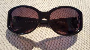 Schwarze Elle Sonnenbrille mit Strasssteinen