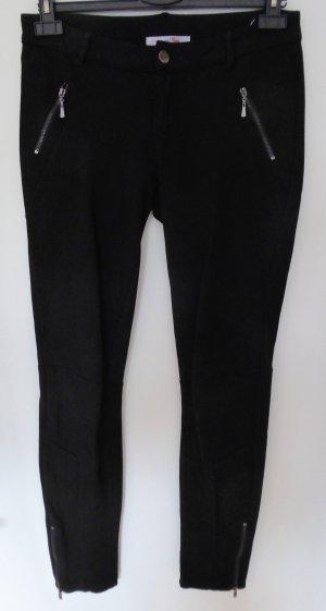 Pantalón elástico negro tejido mezclado