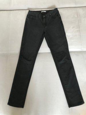 Schwarze enge Jeans, elastisch, zeitlos, klassisch, von Kaffe