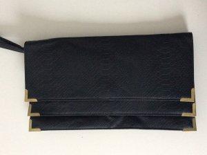 Schwarze envelope clutch