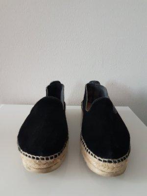 Espadrille sandalen zwart