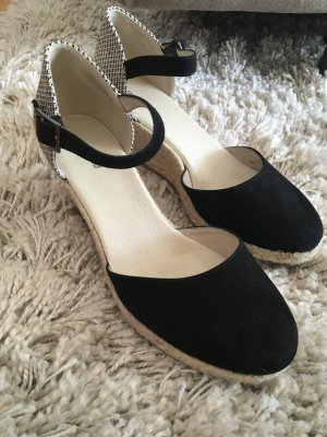 Graceland Espadrille Sandals black-white