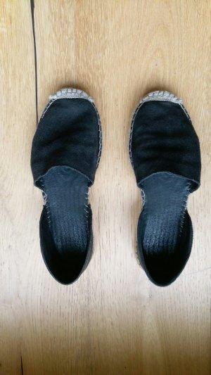 Pieces Espadrille Sandals black-camel