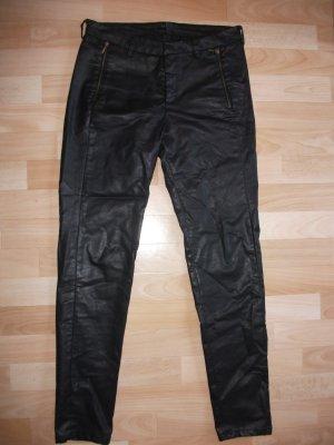 Schwarze Esprit-Hose in beschichteter Optik, Gr. 36