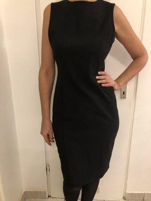 Schwarze Etui Kleid Schlitz Reißverschluss