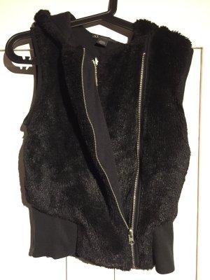 Armani Exchange Vest van imitatiebont zwart