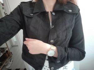 New York & Company Oversized Jacket black-silver-colored imitation leather