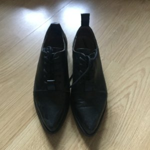 Selected Femme Wingtip Shoes black leather