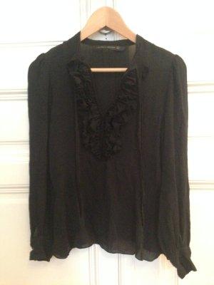Zara Blouse en soie noir soie