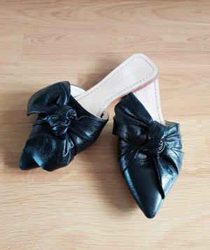 Zara Mule noir cuir