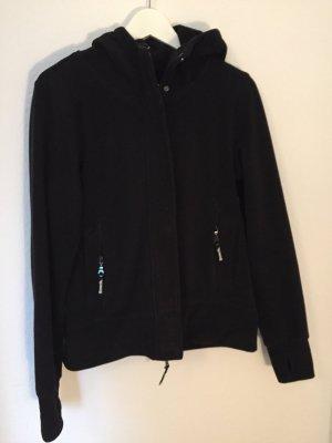 Schwarze Fleece-Kapuzen-Jacke von Bench