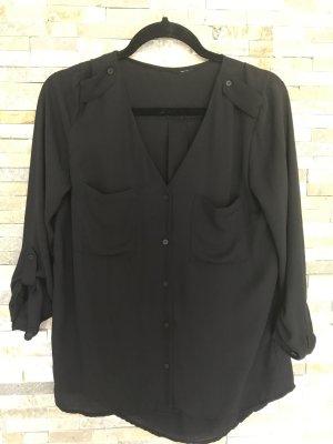 Schwarze fließende Bluse von H&M in xs