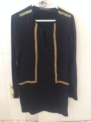 Comptoir des Cotonniers Vestido tipo túnica negro-color bronce