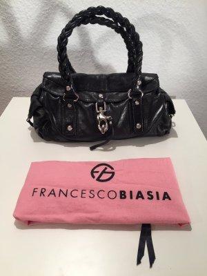 44b83bd091c77 Schwarze Francesco Biasia Handtasche aus Leder